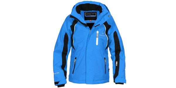 Detská modro-čierna lyžiarska bunda Bergson