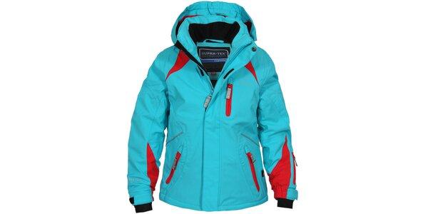 Detská modro-červená lyžiarska bunda Bergson