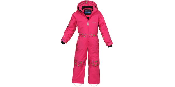 Detská ružová funkčná lyžiarska kombinéza Bergson