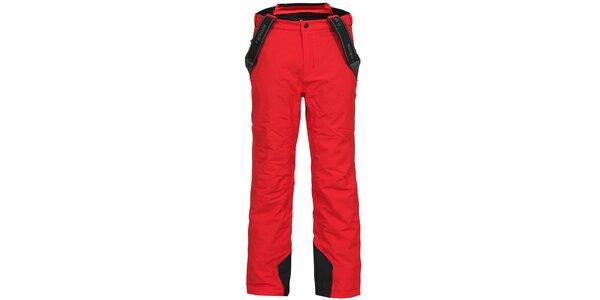 Pánske červené lyžiarske nohavice s trakmi Bergson