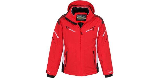 Pánska dlhšia červená lyžiarska bunda Bergson
