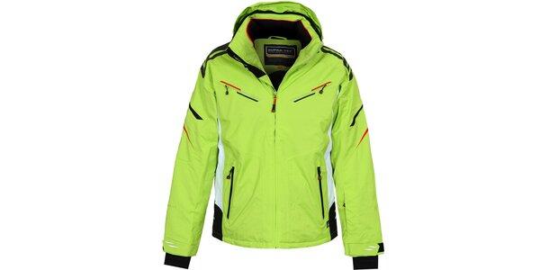 Pánska dlhšia zelená lyžiarska bunda Bergson