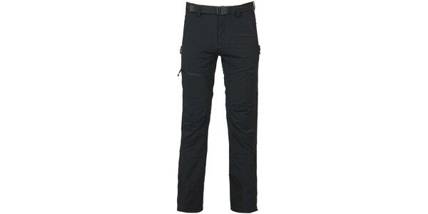 Pánske čierne trekové nohavice Bergson
