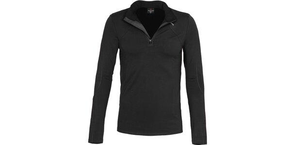 Pánske funkčné čierne tričko Bergson