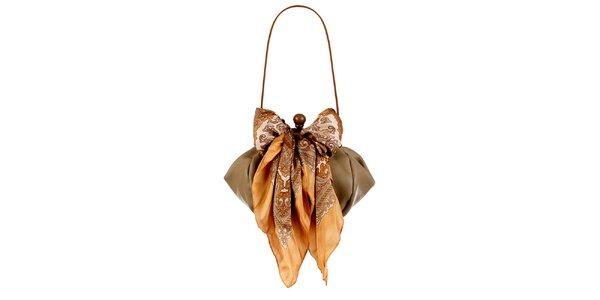 Dámska ťavia kožená kabelka so šatkou Liedownithinkiloveyou