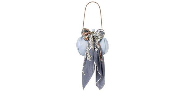 Dámska levanduľová kožená kabelka so šatkou Liedownithinkiloveyou