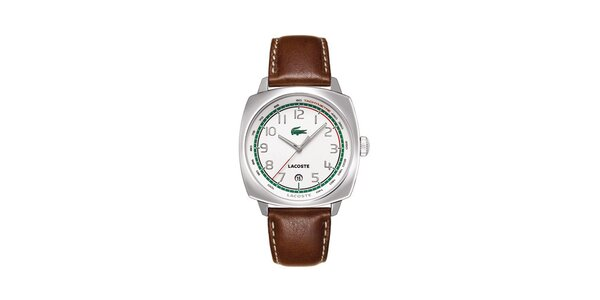 Pánske hodinky Lacoste s hnedým remienkom