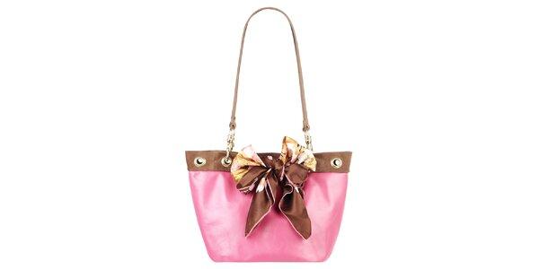 Dámska ružovo-hnedá kabelka s dvomi ušami Liedownithinkiloveyou