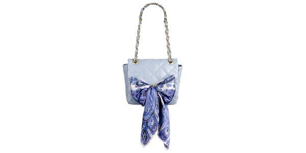 Dámska malá levanduľová prešívaná kabelka so šatkou Liedownithinkiloveyou