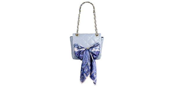 Dámska levanduľová prešívaná kabelka so šatkou Liedownithinkiloveyou