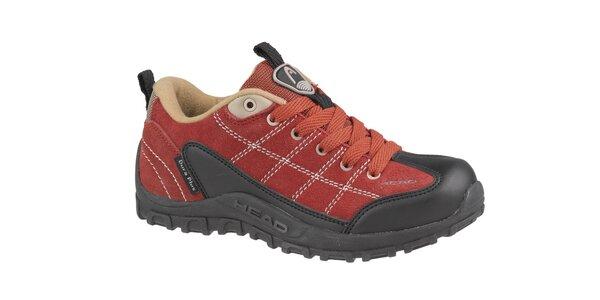 Detská červená nízka trekingová obuv Head