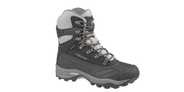 Pánske čierno-šedé vysoké zimné trekingové boty Head s membránou