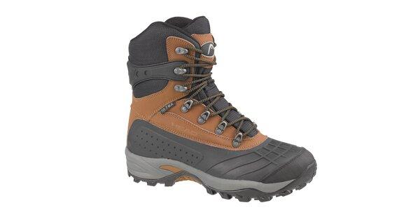 Pánske hnedo-čierne vysoké zimné trekingové boty Head s membránou