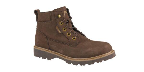 Pánske tmavo hnedé zimné kotníčkové boty Head