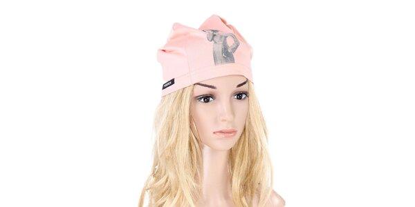 Dámska broskyňová čiapka s potlačou Yuliya Babich