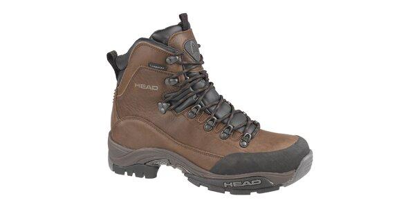 Pánske tmavo hnedé vysoké trekingové boty Head s membránou