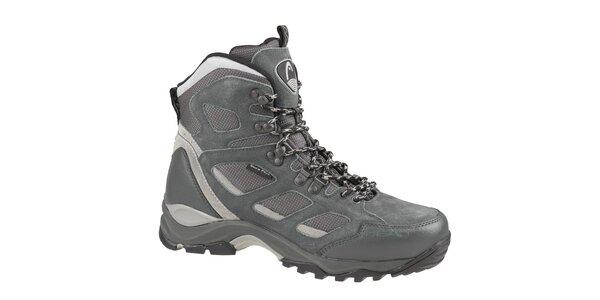 Pánske šedé vysoké trekingové boty Head