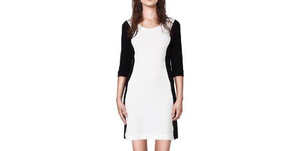 Dámske čiernobiele upnuté šaty Yuliya Babich