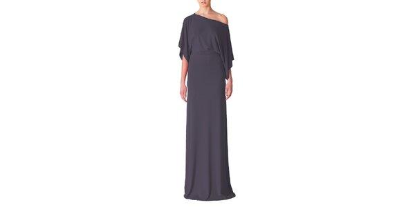 Dámske tmavo šedé večerné šaty Yuliya Babich