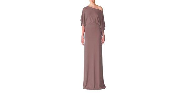 Dámske hnedé večerné šaty Yuliya Babich