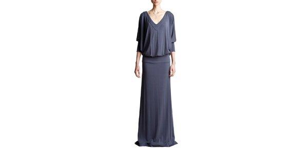 Dámske dlhé šedé šaty Yuliya Babich