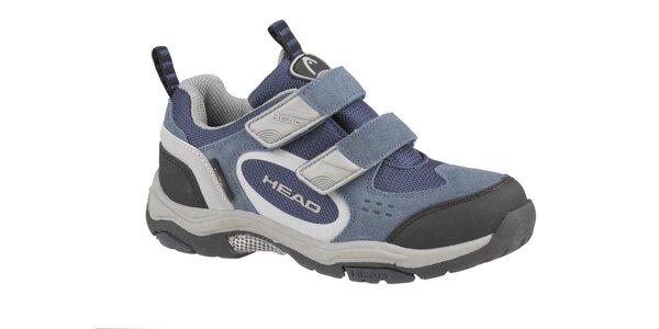 Detská šedo-modrá nízka trekingová obuv Head