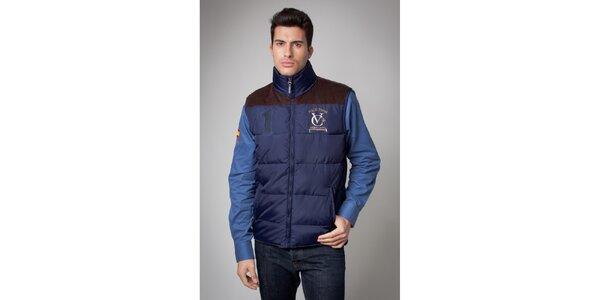 Pánska modrá prešívaná vesta Valecuatro
