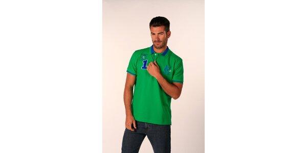 Pánske žiarivo zelené polo tričko Valecuatro
