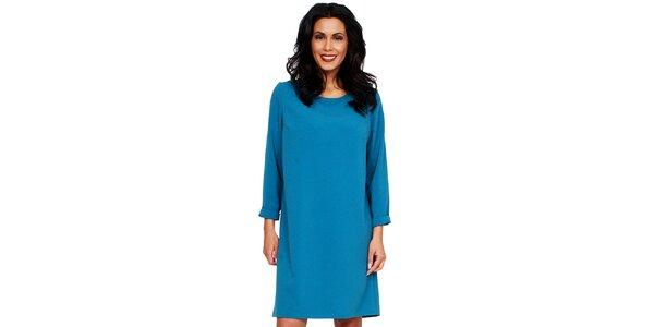 Dámske tyrkysové šaty s holým chrbátom Andrea G Design