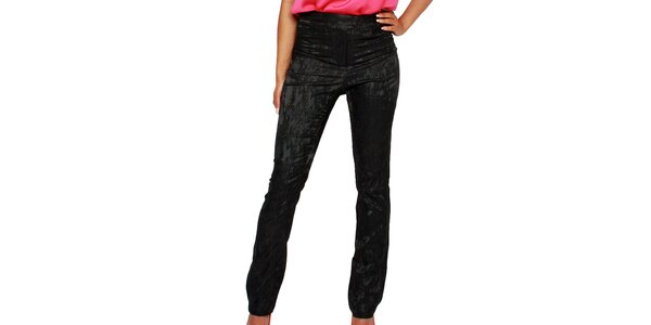 Dámske čierne nohavice so vzorom Andrea G