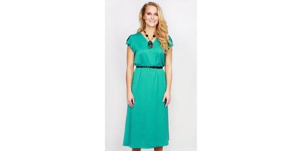 Dámske zelené dlhšie šaty Andrea G