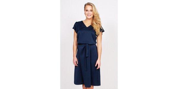 Dámske námornícky modré dlhšie šaty Andrea G