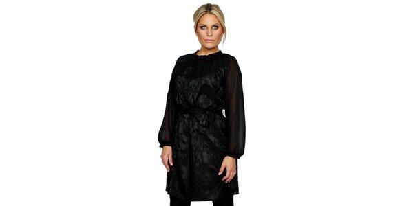 Dámske čierne brokátové šaty Andrea G Design
