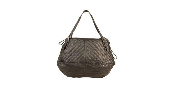 Dámska čierna prešívaná kabelka Sisley
