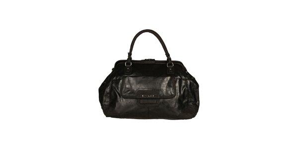 Dámska čierna kabelka s dvomi ušami Sisley