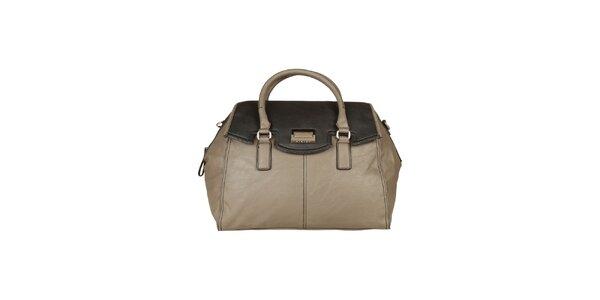 Dámska šedo-béžová kabelka Sisley