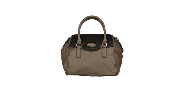 Dámska šedo-čierna kabelka Sisley
