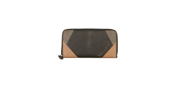 Dámska čierno-béžová peňaženka Sisley