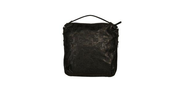 Dámska čierna kabelka so vzorom Sisley