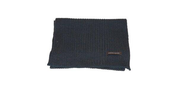 Denimovo modrý pletený šál Pierre Cardin
