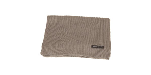 Béžový pletený šál Pierre Cardin