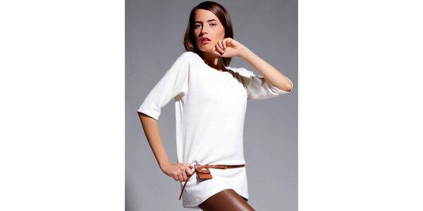 Dámske krémové tričko s trojštvrťovými rukávmi Lanti