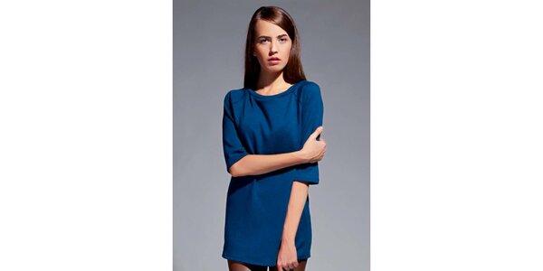 Dámske modré tričko s trojštvrťovými rukávmi Lanti