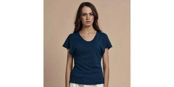 Dámske modré tričko s krátkymi rukávmi Lanti