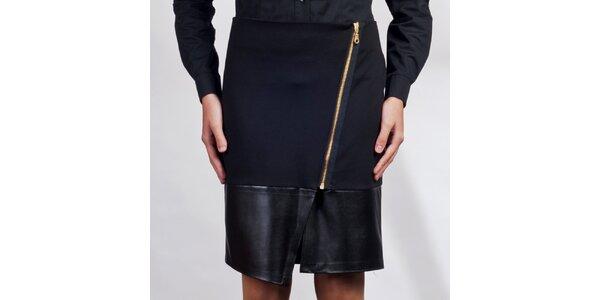 Dámska čierna asymetrická sukňa Lanti