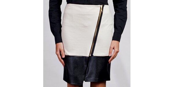 Dámska biela asymetrická sukňa Lanti