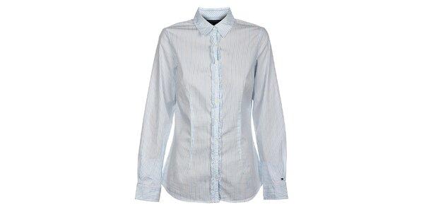 Dámska biela prúžkovaná košela Tommy Hilfiger