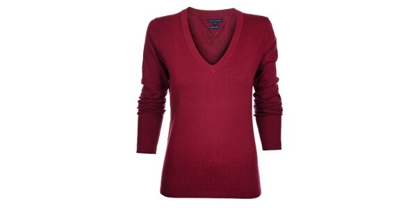 Dámsky vínový sveter Tommy Hilfiger