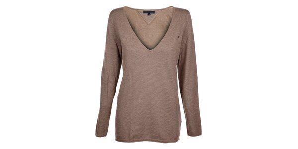 Dámsky hnedo-šedý sveter Tommy Hilfiger