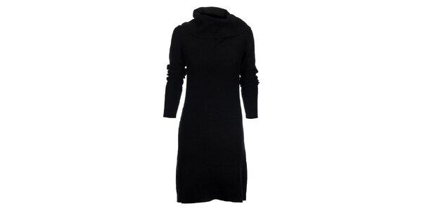 Dámske čierne pletené šaty Tommy Hilfiger